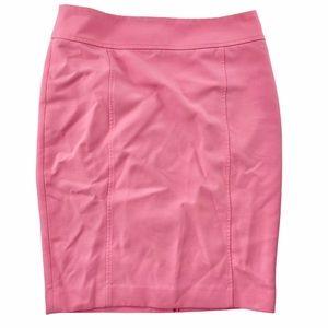 Loft cotton candy pink scuba pencil skirt sz 6